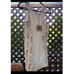NWT White tribal bodycon dress size Small